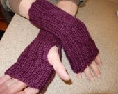 "9 1/2"" Purple Fingerless Gloves/Gauntlets"