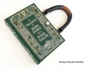 Irish Fairy Tales Book Purse - Irish Folk Tales Book Clutch - St Patrick's Day Accessory - Ireland Gift