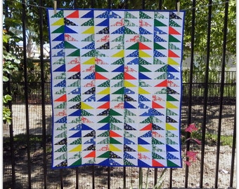 The Any Which Flying Geese Way Water Land Quilt for Baby