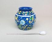 Collector Miniature Italian Pottery Ceramic Jug, Pot, Hand Painted OOAK IGMA