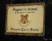 Hogwarts Personalized Welcome Sign - Harry Potter, Hogwarts, Gryffindor, Hufflepuff, Ravenclaw, Slytherin Print-at-Home PDF File