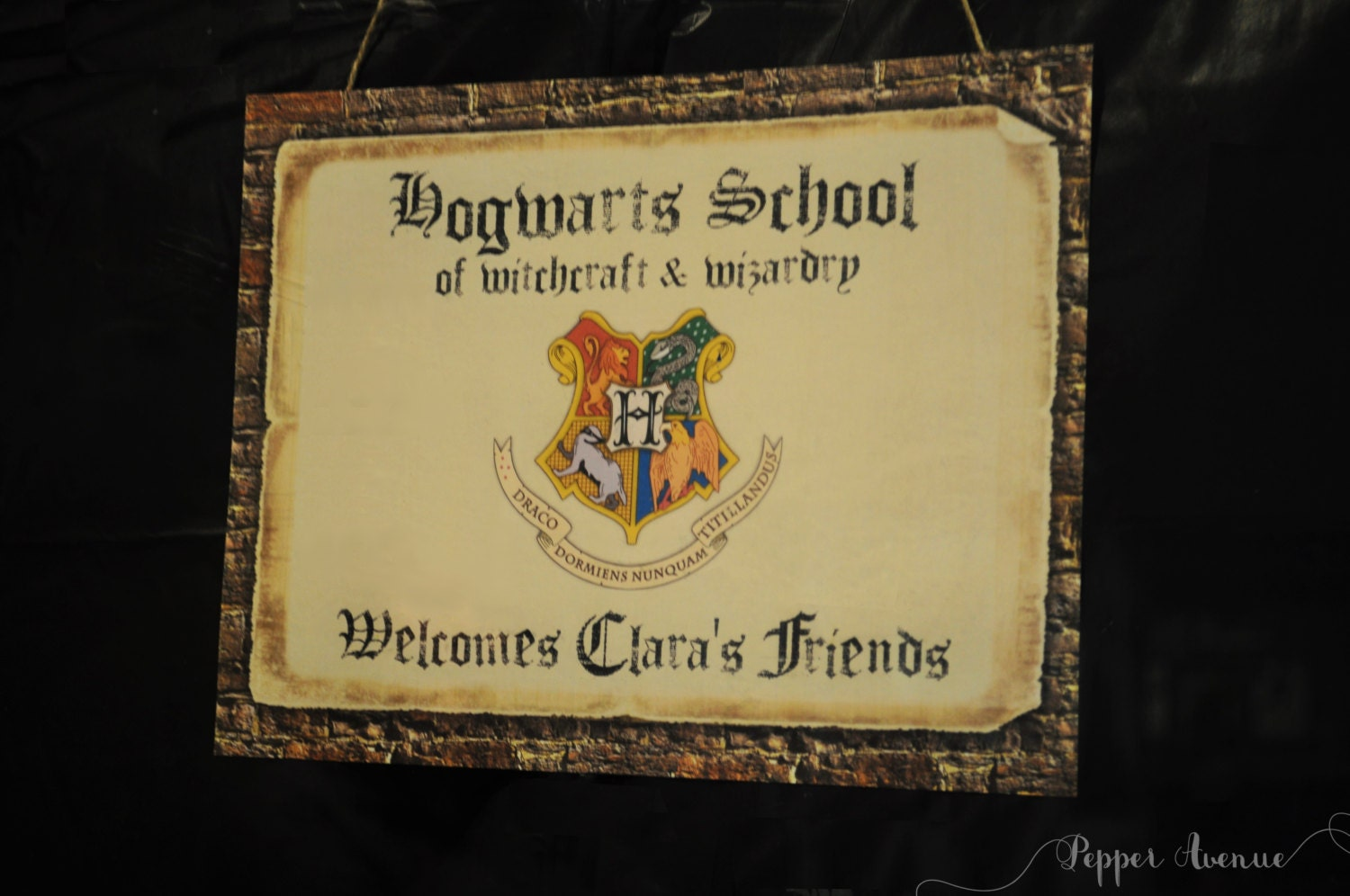 Revered image inside hogwarts sign printable