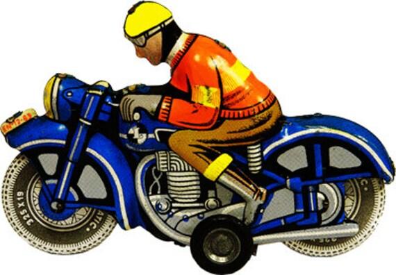 tin motorcycle vintage toy png clip art digital image graphics download art printable