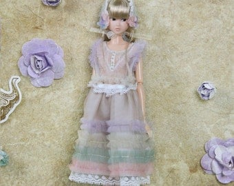 Jiajia Doll limited Flowers First Love - many ways 2 Pieces Rainbow set fit momoko or misaki or Azone or blythe or fashion royalty