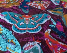 SALE. FQ  quilting cotton Anna Maria Horner Field Study Sinister Swarm in Vivacious
