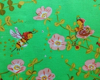 Sale. Heather Ross Briar Rose Nanny Bee in green