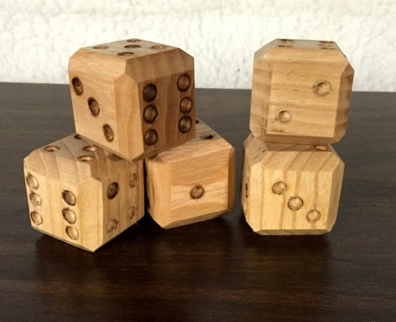 Handmade Wooden Dice Set