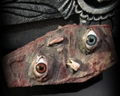 Coffin Shaped Box: Flesh Eyes and Teeth - Dead Girl Massacre Decay - Limited Edition - Horror Trinket - Jewelry - Stash Box - Handmade Art