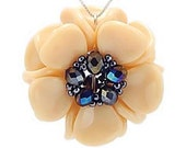 Magnolia Flower Pendant Jewelry Making Kit - Vanilla Sky