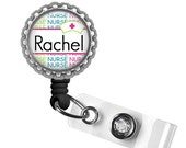 ON SALE - Personalized Nurse ID Badge Holder (Neon) - Nursing Student, Gifts for Nurses, Graduation Gift, Thank You Gift, Nurse Lanyard, Bad