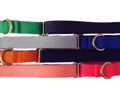 "Solid Nylon  Martingale Collar ~ Choose Your Color ~ 3/4"" Martingale Collar"