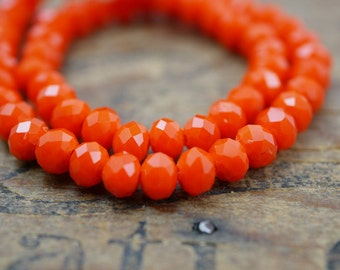 Crystal Chinese Crystal Beads Rondelle 4x6mm Bright Orange (58)