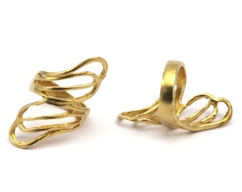 4 Raw Brass Rings D434
