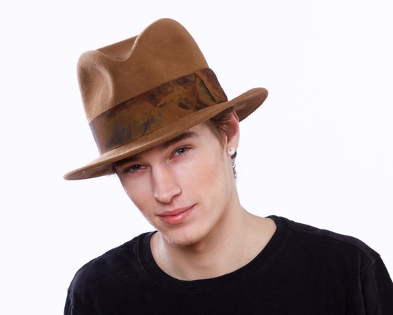 Mens Fedora Hat 1930s Mens Hat 1940s Mens Hat 1950s Mens Hat Fall Fashion Men's Accessories Men's Dress Hat Spring Fashion Brown Hat