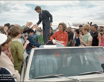 Robert F. Kennedy,  COAST GREETING, Clyde Keller Photo, Featured in HBO film, Ethel, by Rory Kennedy, Fine Art Print, Color