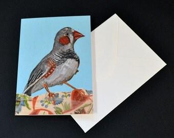 Zebra Finch Card