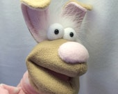 Gigi - Bunny in a Sweater Hand Puppet (moving mouth)