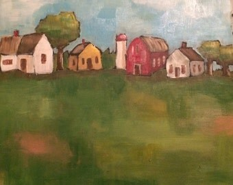Little Farm original painting