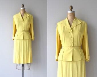 Dan Millstein silk suit | vintage 1950s suit | silk 50s suit