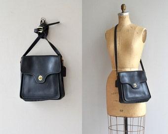Coach 'Shelton' bag | vintage black leather Coach purse | Coach cross-body bag