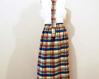 Vintage Skirt Fab Plaid 1970's