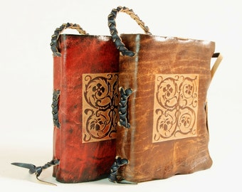 Medieval ornament Leather Journal / Notebook / pocket diary