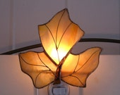 Maple Leaf Stained Glass Night Light Maple Leaf Lamp Glass Night Light Glass Nightlight  Stained Glass Light Stained Glass Lamp Maple Leaf