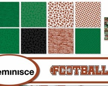 Reminisce FOOTBALL Scrapbook Papers - Individual or Page Ki   12x12   Sports