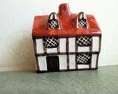Vintage Ceramic House, English Cottage, Around the Corner, Made in England, Suffolk House,  Miniature Cottage, Mini Village, Tudor Style