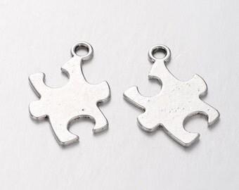 Puzzle Piece Charm- Set of 25 - #MP154
