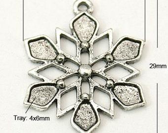 Snowflake Charm - Set of 10 - #MP186