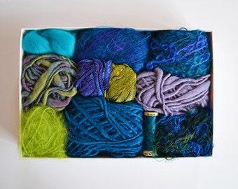 Blue/Green - Artsy Fiber Kit - Craft Gift