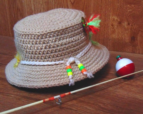 Crochet Pattern Baby Fishing Hat Bucket Boy Boys Girl Girls