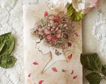 Notebook - Illustrated notebook - A6 - Lola