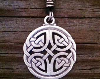 Round Open Celtic Knot Pewter Pendant