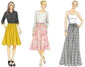Vogue V8818 Sewing Pattern - Vogue Patterns Misses Skirt Sewing Pattern - Maxi Skirt Pattern - Midi Skirt Pattern