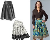 Vogue V8295 Sewing Pattern - Vogue Patterns Misses Skirt Sewing Pattern - Flared Skirt Pattern