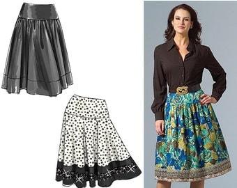 Vogue V8295 Sewing Pattern - Vogue Patterns Misses Skirt Sewing Pattern - Flared Skirt Pattern