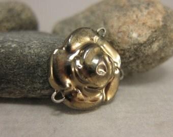 Rose Connector in Golden Bronze