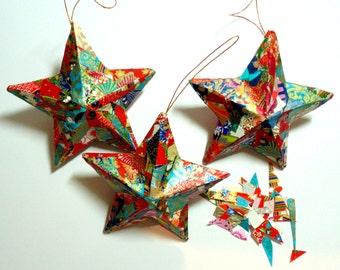 Star Ornaments, Boho Christmas Ornaments