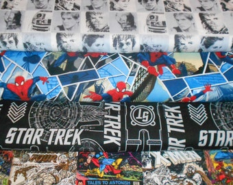 SUPER HEROS #3  Fabrics, Sold INDIVIDUALLY not as a group, by the Half Yard