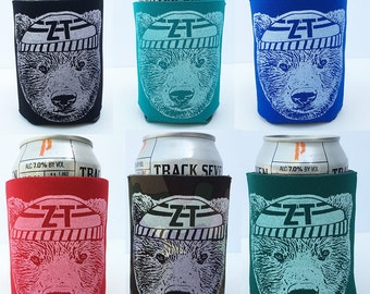 ZT Bear - Hand Screen Printed Can Cooler (6 Color Options)