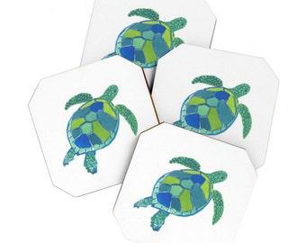 Sea Turtle Coaster Set