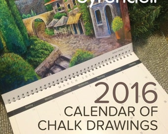 2016 Calendar of Chalk Drawings