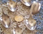 Lot of 6 Vintage Cut off Spoons Ready for you to create!