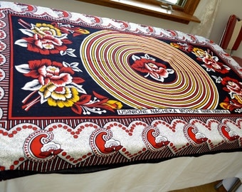 Vintage SWAHILI Rivatex Eldoret FABRIC made in KENYA 40 by 64 inches