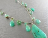 BIGGEST SALE EVER Peruvian Opal And Sterling Silver Necklace