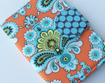 Nook Glowlight Plus Case, Kindle Cover, Nook Cover, all sizes, Tangerine Wallpaper Tablet Cover