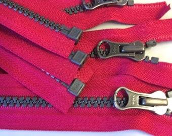 6 Hot Pink 5mm YKK Separating Zippers