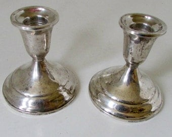 Vintage Pair Towle Sterling Silver Candlesticks Candelabra Candle Holders